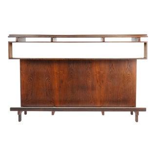 1960s Danish Modern Dyrlund Knud Bent Model Rosewood Bar For Sale