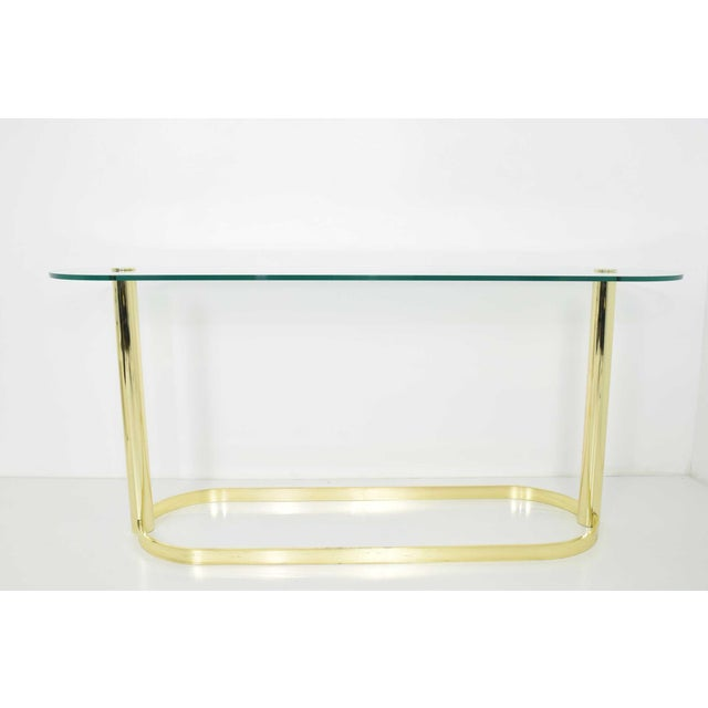 Brass Pace Collection Console For Sale - Image 7 of 7