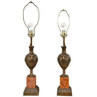 Bronze Ewers Table Lamps - A Pair For Sale