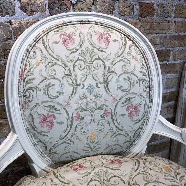 1930s Vintage French Style Upholstered Chairs- a Pair For Sale In Chicago - Image 6 of 13
