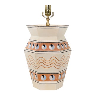 Modern Hexagonal Urn Lamp For Sale