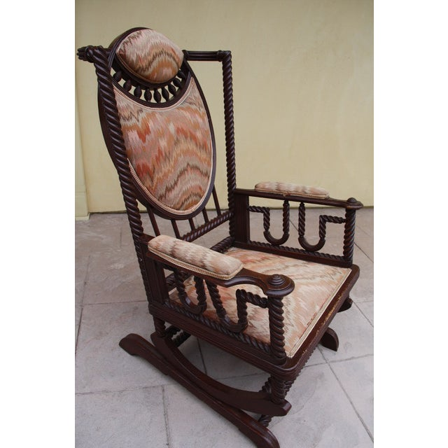 Antique Upholstered Rocking Chair For Sale - Image 4 of 4 - Antique Upholstered Rocking Chair Chairish