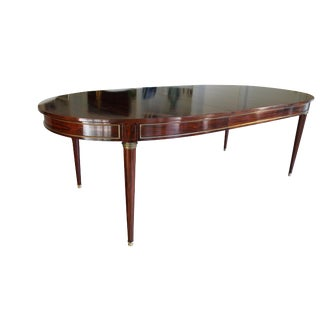 Louis XVI Style Rosewood Dining Table W/ Three Leaves For Sale