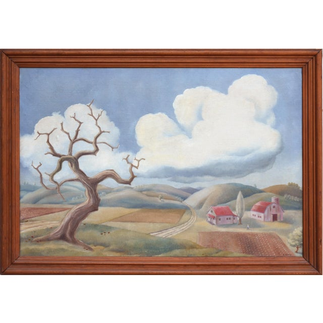 1940s Country Landscape by Robert Fabian Butts For Sale - Image 5 of 5