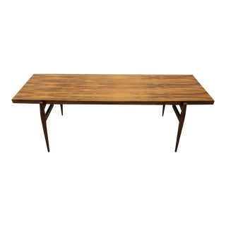 Mid-Century Larsen Style Rosewood Coffee Table For Sale