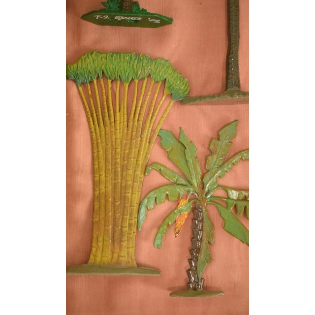 Boho Chic Vintage Mid-Century Hand-Painted Palm Trees - Set of 10 For Sale - Image 3 of 11