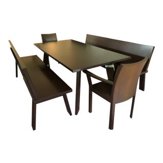 Bulthaup Chic Modern Walnut Dining Set For Sale