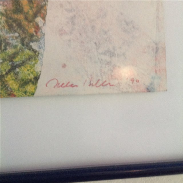 '90 Monotype on Handmade Paper by Jules Heller - Image 3 of 4