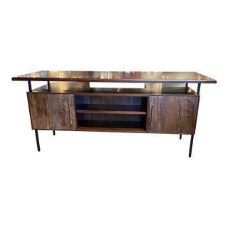 Mid-Century Storage Executive Desk For Sale
