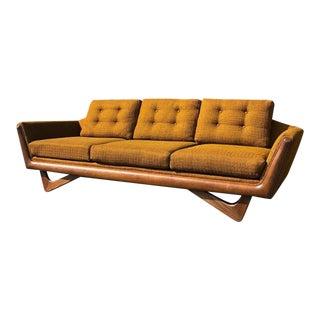 1960s Mid-Century Modern Bassett Prestige Gondola Sofa For Sale