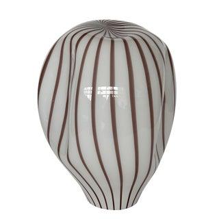 Lino Tagliapietra Murano Glass Striped Balloon Table Lamp for Effetre For Sale