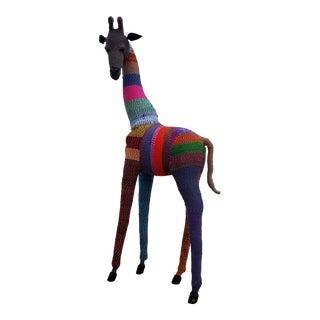 Handmade Giraffe Floor Sculpture