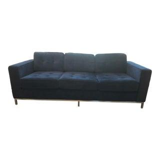 Gus Modern Dark Blue Velvet Sofa For Sale