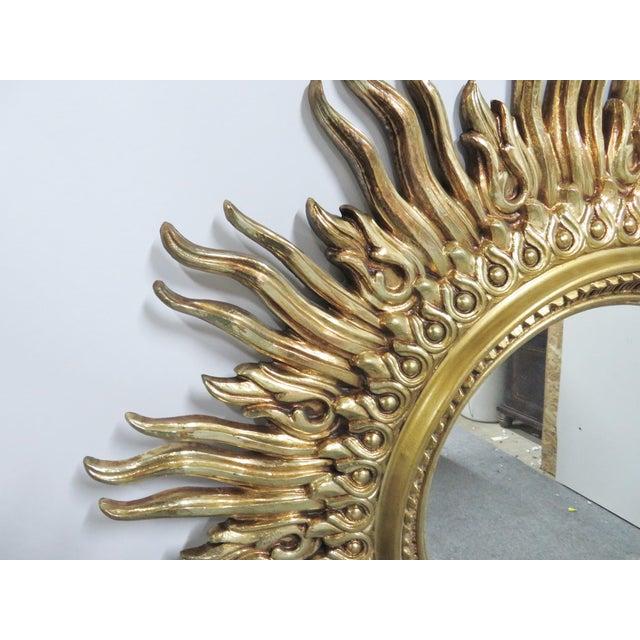 Vintage Mid Century Syroco Sunburt Mirror For Sale - Image 4 of 5