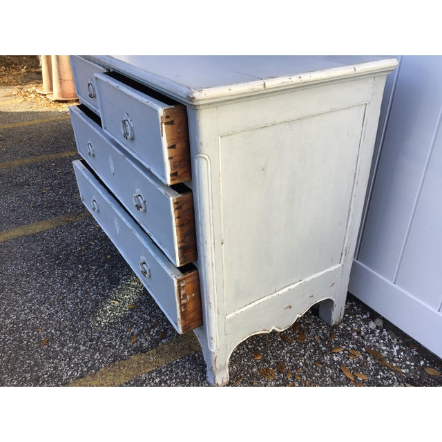 Antique French Provincial Painted Chest For Sale - Image 9 of 11