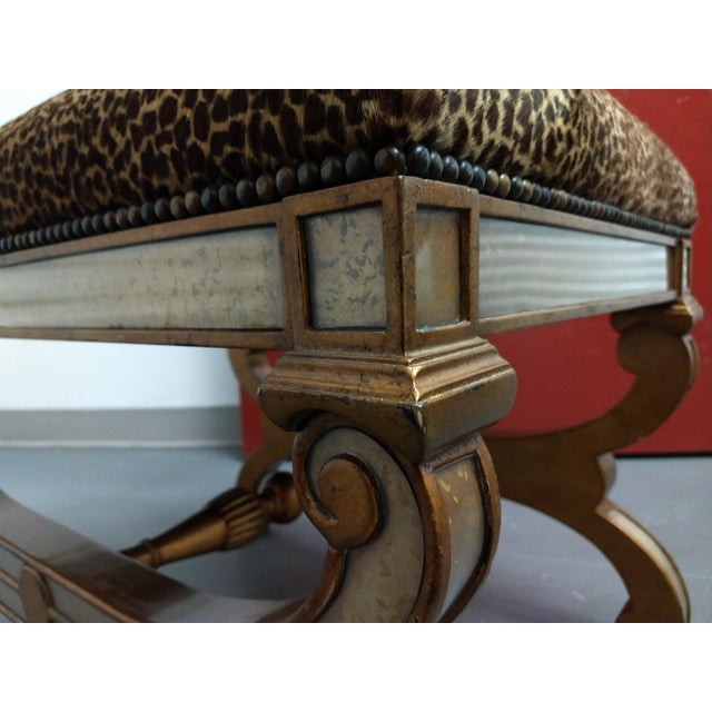 Roman Empire Renaissance Curule Fashioned Ottoman or Seating For Sale - Image 9 of 13