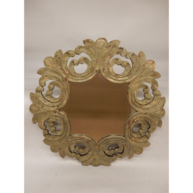 Glass 19th Century Italian Rococo Painted Mirror For Sale - Image 7 of 7