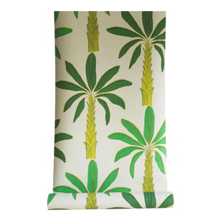 Tropical Wallpaper in Porcelain Earth White, 6 Rolls For Sale