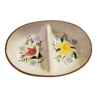 "Stangl ""Country Garden"" Divided Redware Serving Bowl For Sale"