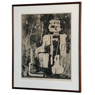 "Louise Nevelson Framed Etching ""The Search"", 1953-1955 For Sale"