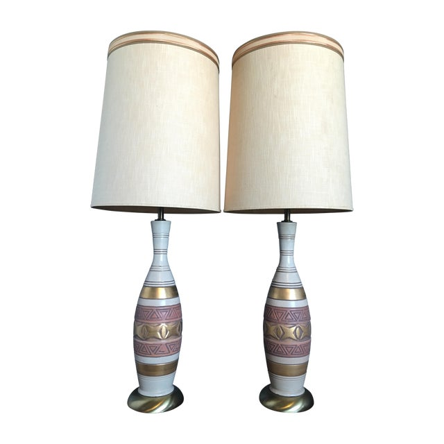 Mid-Century Palm Springs Estate Table Lamps - Pair - Image 1 of 7