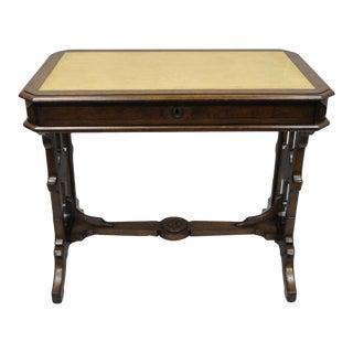 Antique American Eastlake Victorian Walnut Small Writing Desk