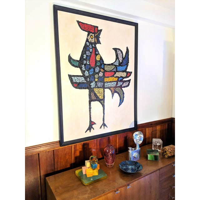 Large Mosaic Rooster Wall Art For Sale - Image 10 of 11