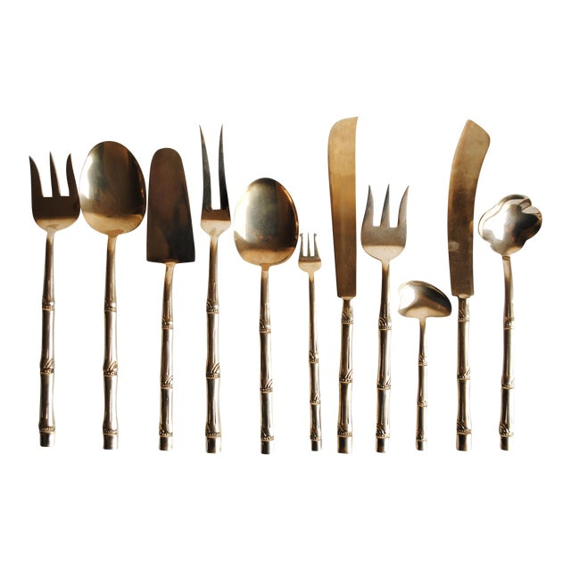 Mid-Century Bronze Flatware Set, 142 Pieces (Service for 12) - Image 1 of 8