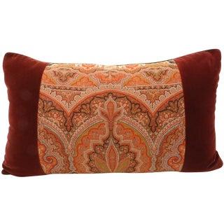 Paisley & Velvet Bolster Pillow