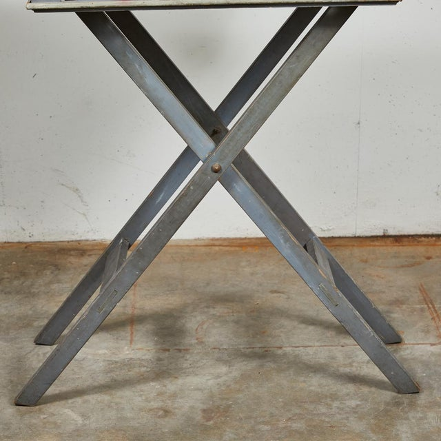 Gray Mid 19th Century French Folding Presentation Table For Sale - Image 8 of 9