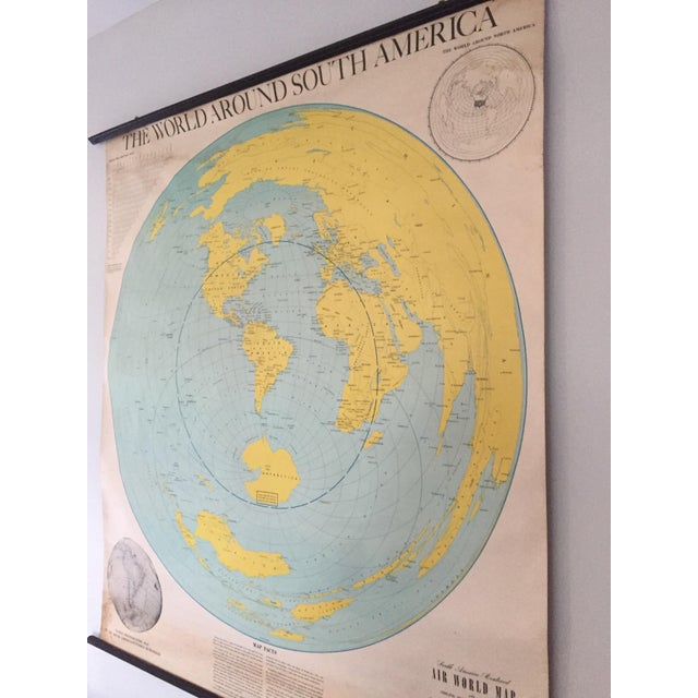 1945 Vintage 1st Edition South America School Map - Image 3 of 9
