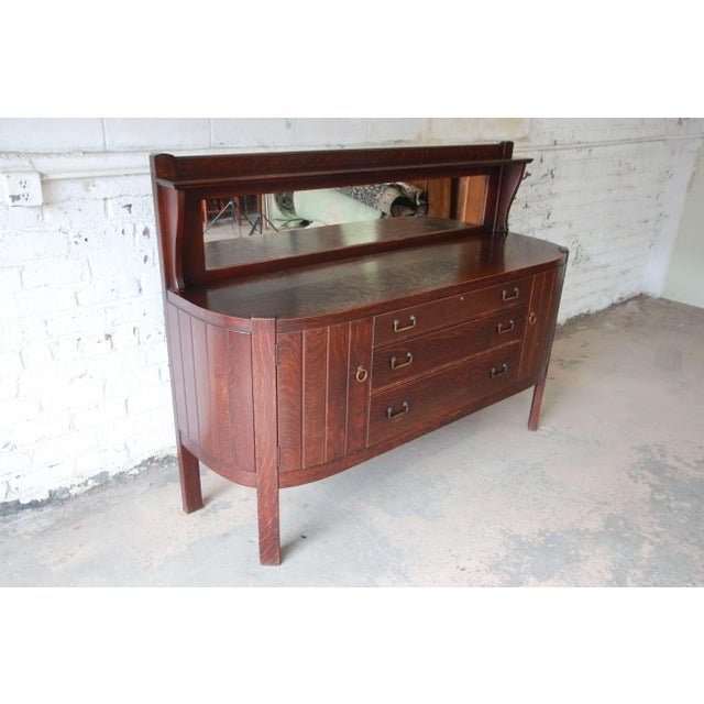 1910s Antique Mission Oak Sideboard by Grand Rapids Chair Co., Circa 1910 For Sale - Image 5 of 12