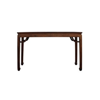 Chinese Brown Rosewood Entryway Console Foyer Altar Table For Sale