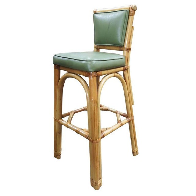 Rattan & Vinyl Bar Stools - Set of 6 - Image 5 of 9