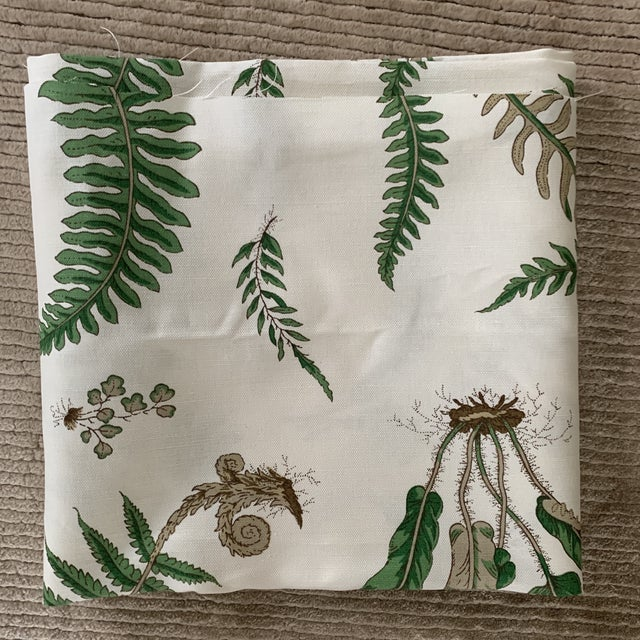 "Textile G. P. & J. Baker ""Ferns"" Fabric- 1 1/4 Yards For Sale - Image 7 of 8"