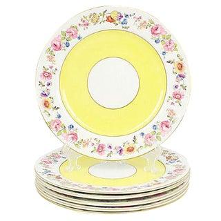 Hanley Porcelain Dinner Plates, S/6