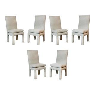 1980s Vintage Milo Baughman Parson Dining Chairs- Set of 6 For Sale