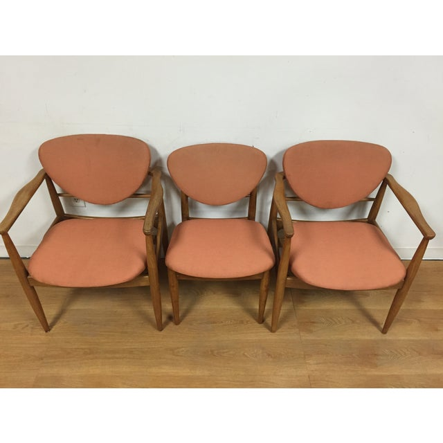 Danish Modern Finn Juhl Style Dining Chairs - Set of 6 For Sale - Image 3 of 11