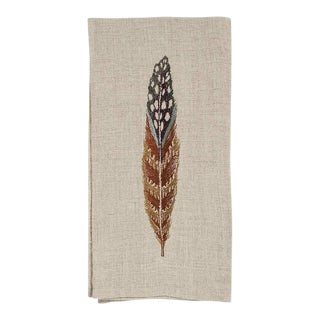 Fowl Feather Tea Towel For Sale