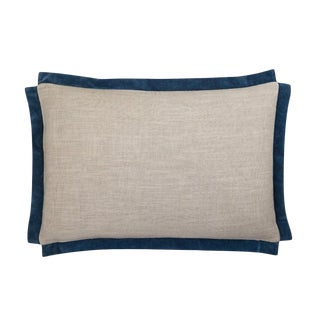 "Piper Collection Navy ""Michelle"" Pillow For Sale"