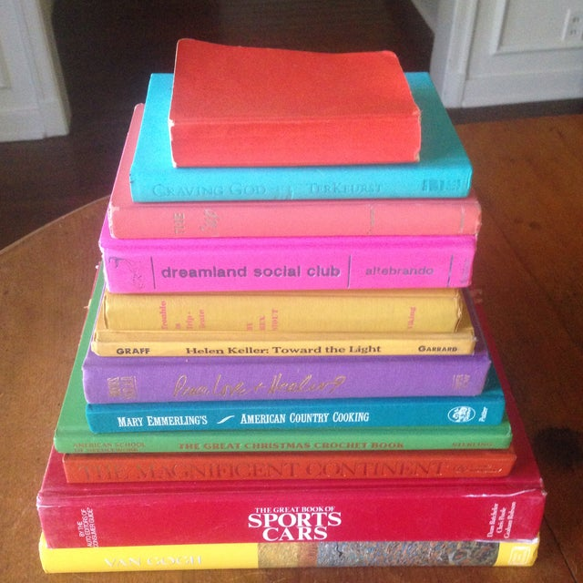 Brightly Colored Decorative Books - Set of 12 - Image 9 of 11