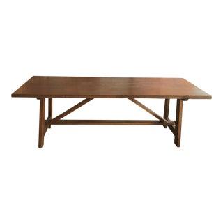Italian Walnut Dining Table For Sale