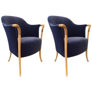 Pair Giorgetti Progetti Armchairs For Sale