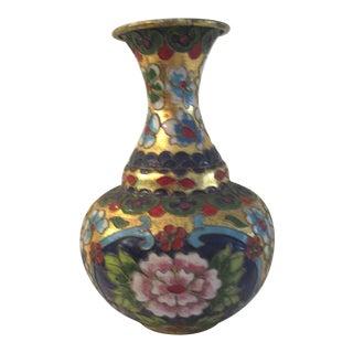 Mid-Century Chinese Cloisonné Floral Vase For Sale
