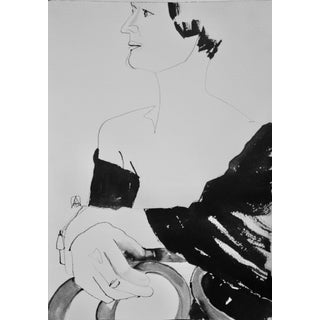 Stolen Moment, Original Drawing by Adria Becker For Sale