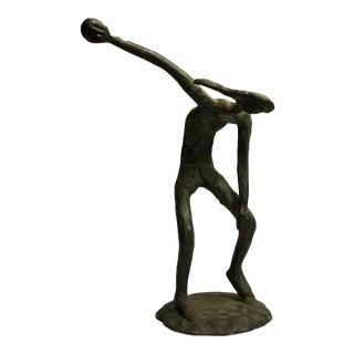 Vintage Bronze Sculpture of a Man For Sale