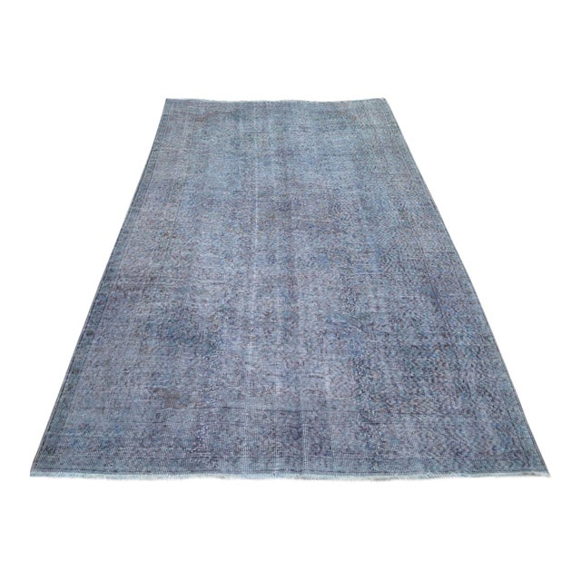 "Turkish Overdyed Patchwork Rug - 5' x 9'1"" For Sale"
