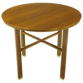 Edward Wormley For Dunbar Walnut X Stretcher Side Table For Sale