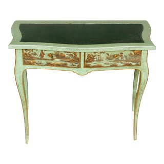 Vintage Chinoiserie Decorated Writing Table For Sale