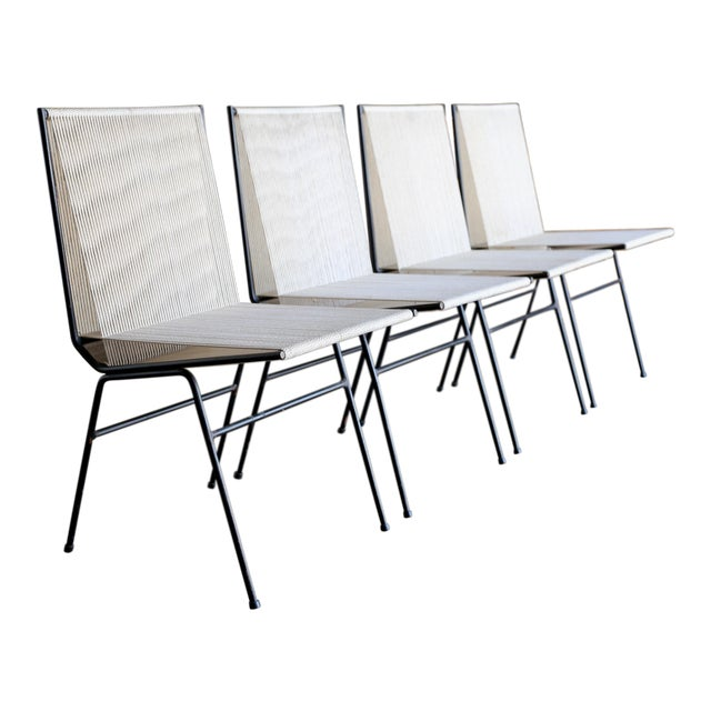 Mid-Century Modern Allan Gould String Steel Chairs - Set of 4 For Sale